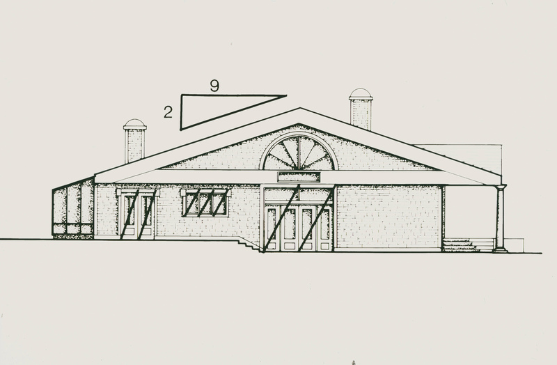 Design concept, The River Run Residence, Project #0860, 1983 (Ms1992-019)