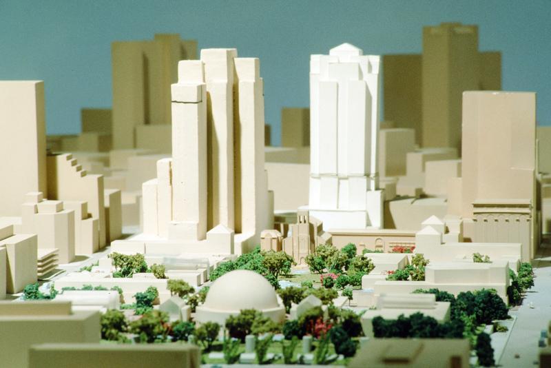 Design model, Yerba Buena Gardens,  #0752 & #0800, 1982 (Ms1992-019)