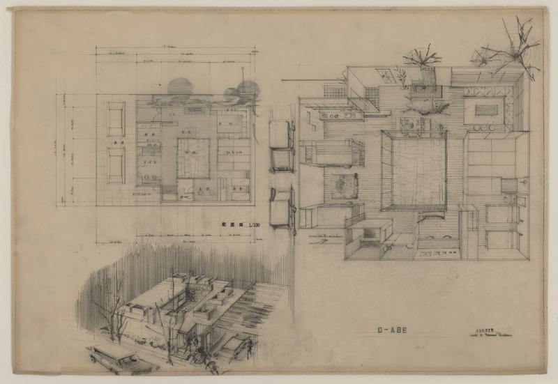 Architectural Drawing, Kimiko Suzuki, Abe House #430328, nd (Ms2013-089)