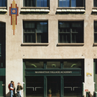 Exterior Building, Manhattan Village Academy, Project #0807, 1996 (Ms1992-019)