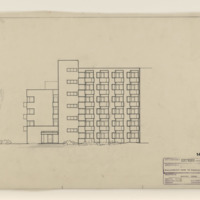 "Elevation Drawing, South View of ""Altenwohnheim"" [Retirement Home], March 5, 1964 (Ms1987-061)"