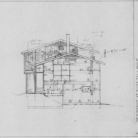 Elevation Drawing, (south-west) Stroubles Mill Residence (Ms1991-025)