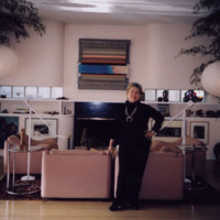 Photograph, Rupp in her home (Ms1997-006)