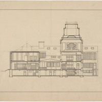 Section Drawing, unidentified four-storey building (Ms2003-015)