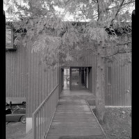 Photograph, exterior bridge entrance of unidentified single-family residence (Ms2004-004)